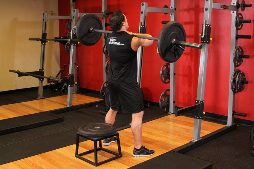 Front Barbell Squat To A Bench image
