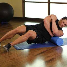 Foam roll lats