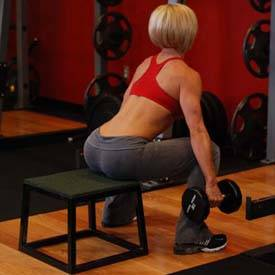 Dumbbell Squat To A Bench