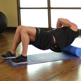Foam roll rotator cuff