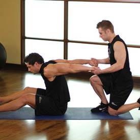 Stretching biceps