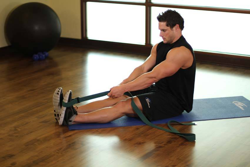 Seated Hamstring and Calf Stretch image