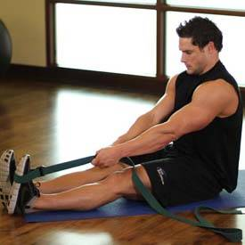 Seated Hamstring and Calf Stretch
