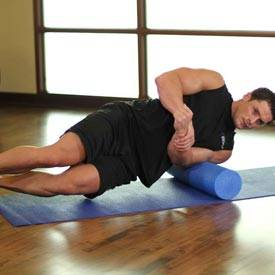 Foam roll biceps