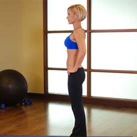 Split squat with dumbbells