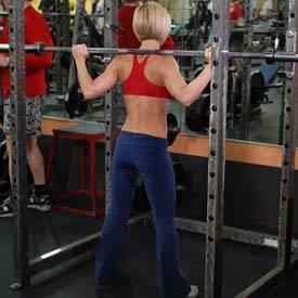 Full barbell squat