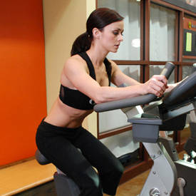 Stationary bike/elliptical trainer
