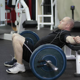 Barbell Hip Thrust Exercise Videos Guides Bodybuilding Com