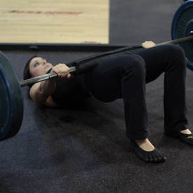 Weighted glute-bridge