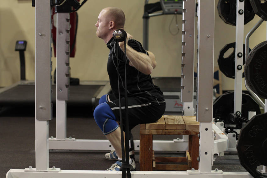 Box Squat with Bands image