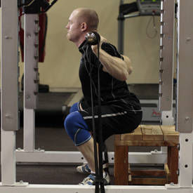 Used Squat Rack >> Box Squat with Bands | Exercise Videos & Guides ...