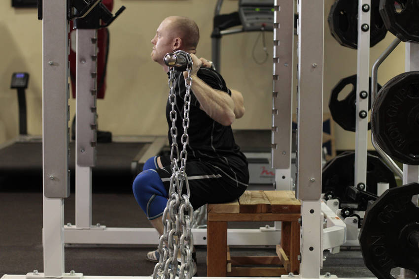 Box Squat with Chains image