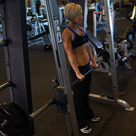 Smith Machine Stiff-Legged Deadlift