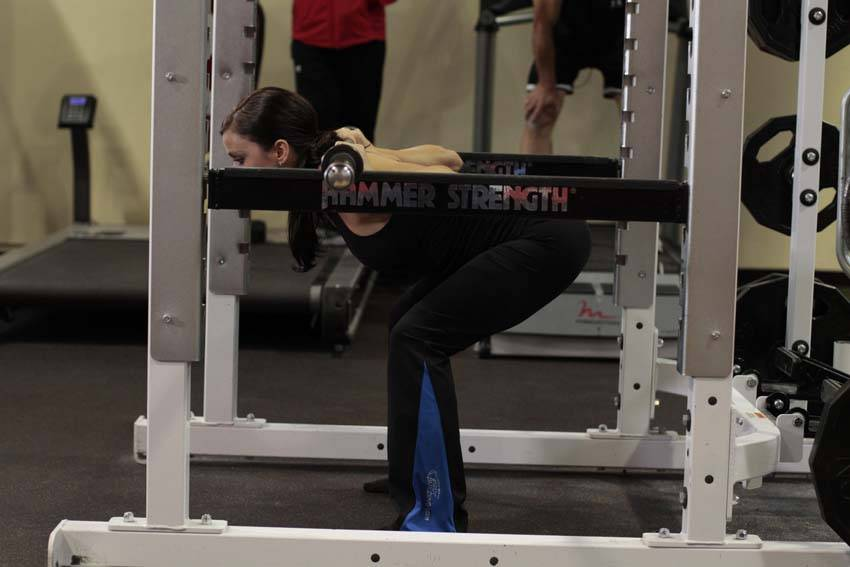 Image result for Barbell good morning from pins pic