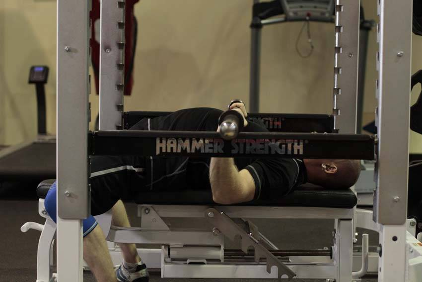 Image result for bench press from pins pic