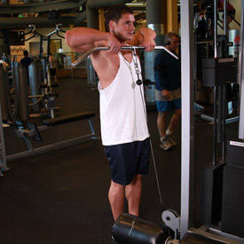 Rope upright row