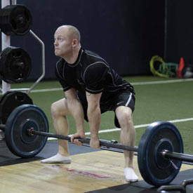 Dynamic-effort sumo deadlift