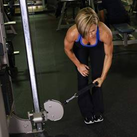 Rear Delt Cable Raise Bent Over Low-Pulley S...