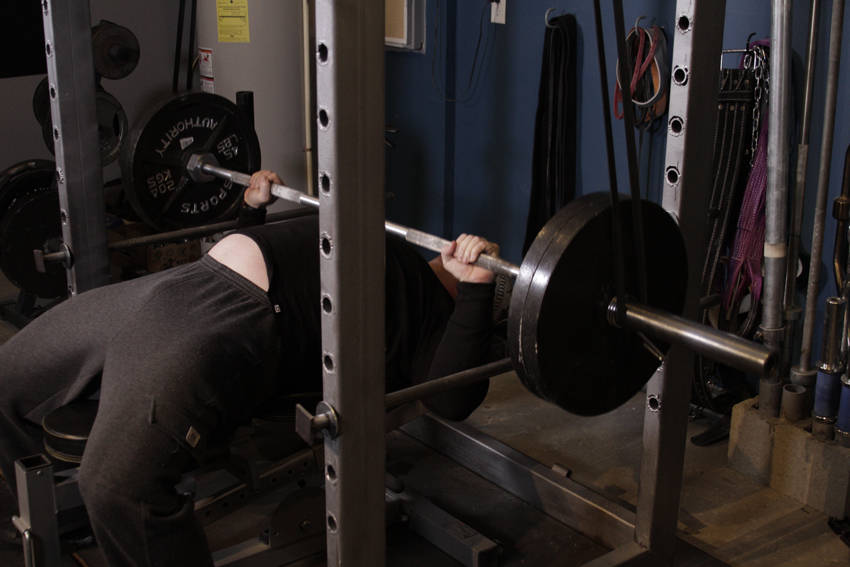 Reverse Band Bench Press image