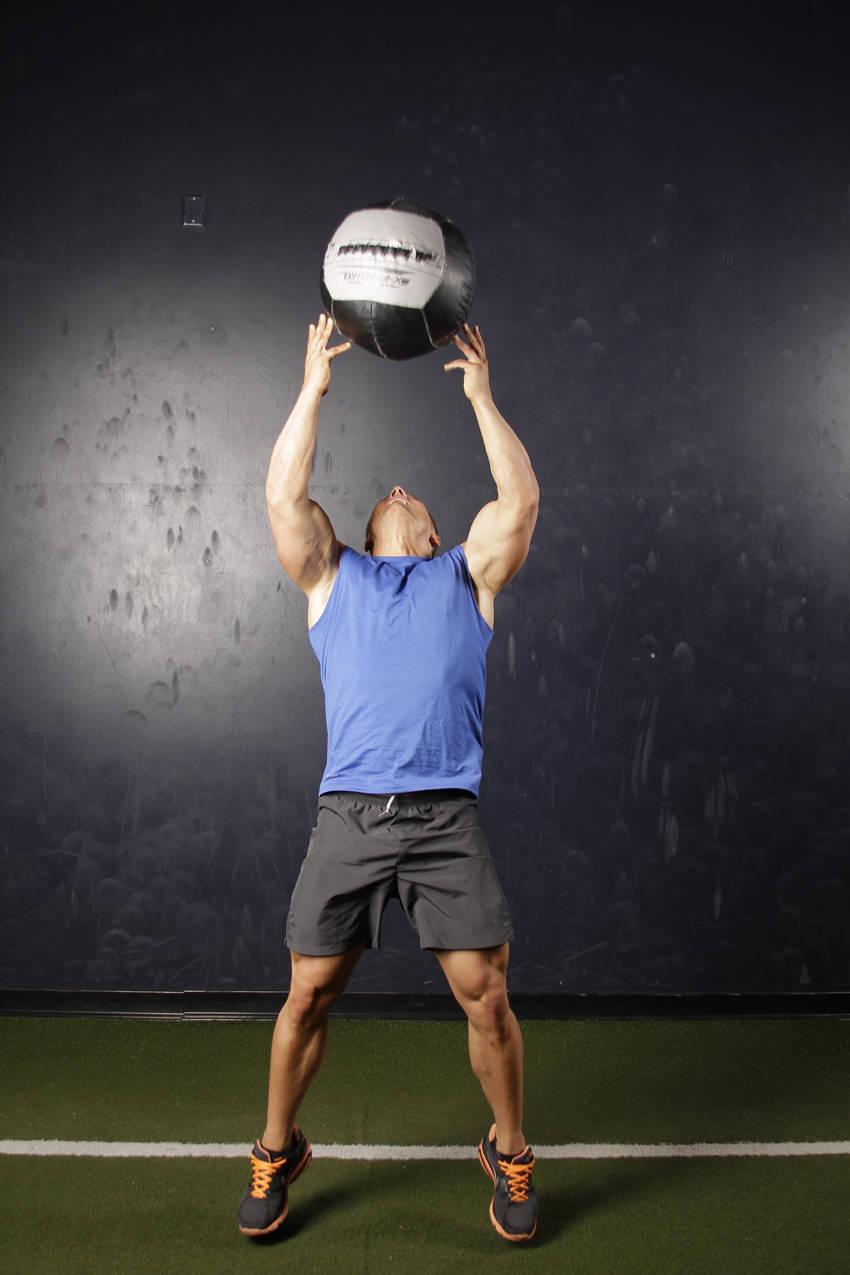 Backward Medicine Ball Throw image