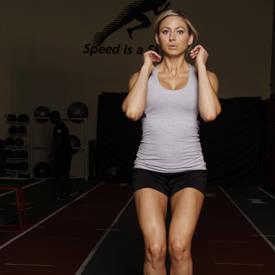 Box jump squat