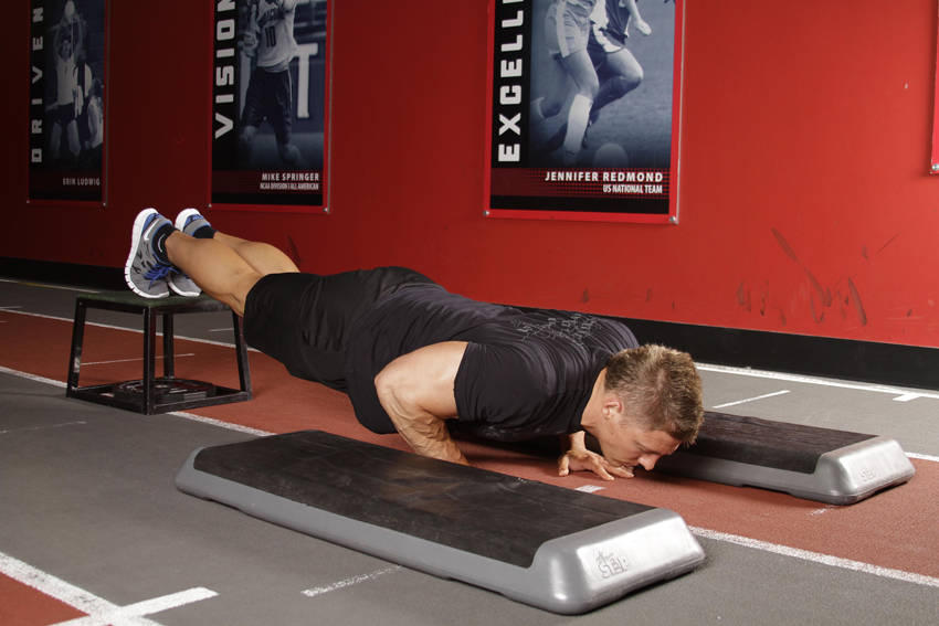 Incline Push-Up Depth Jump image