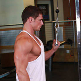 Cable One Arm Tricep Extension