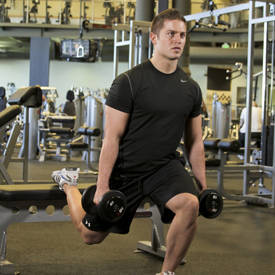 Split Squat with Dumbbells
