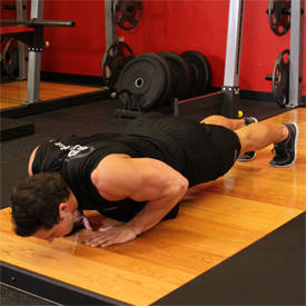 Narrow-grip weighted push-up