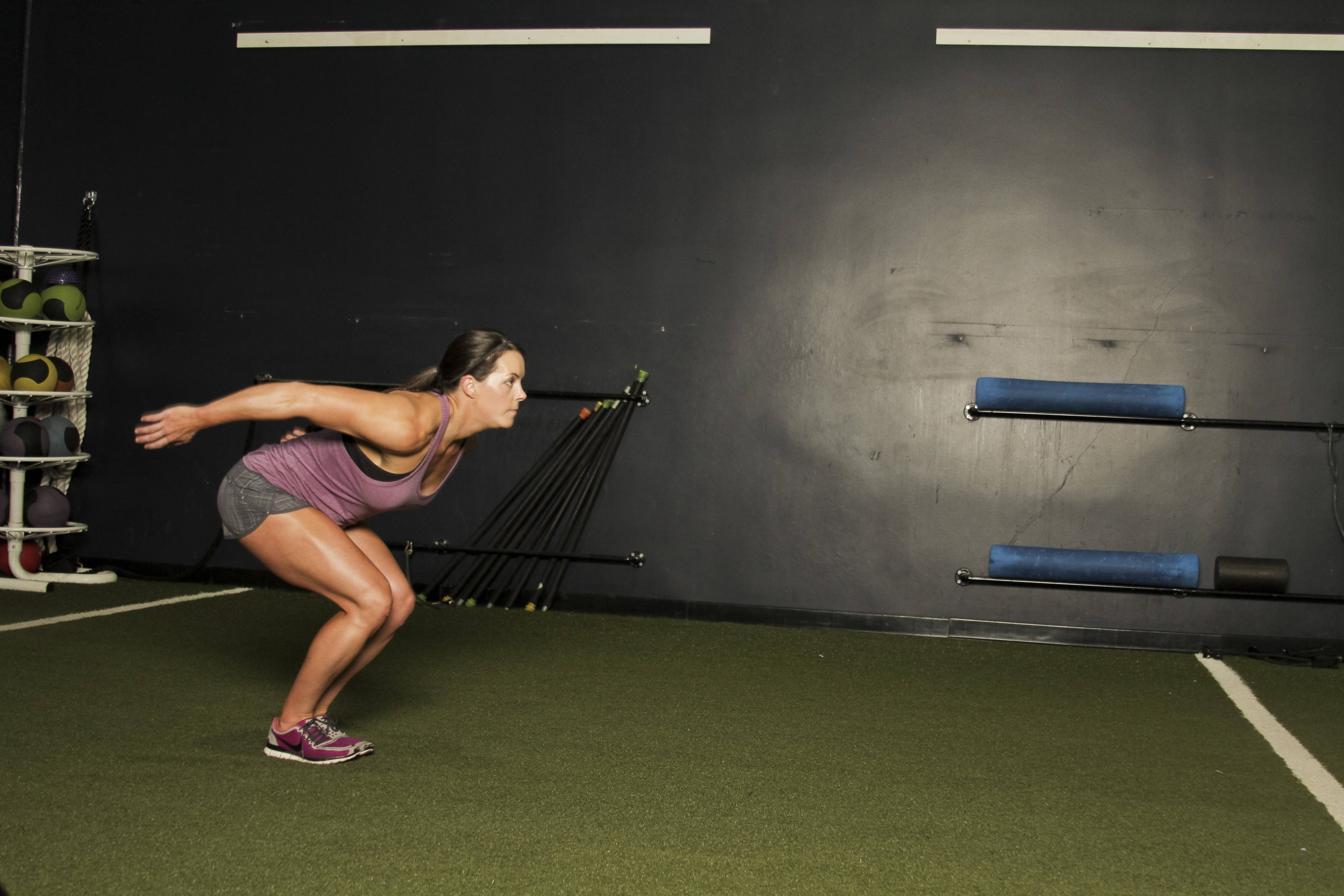 Standing long jump muscle contraction gif