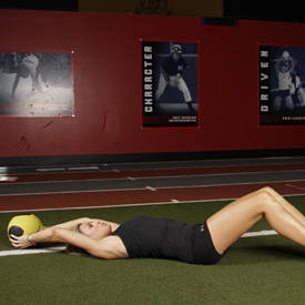 supine twoarm overhead throw exercise guide and video