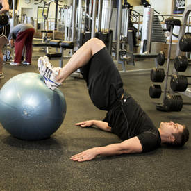 Exercise-ball leg curl