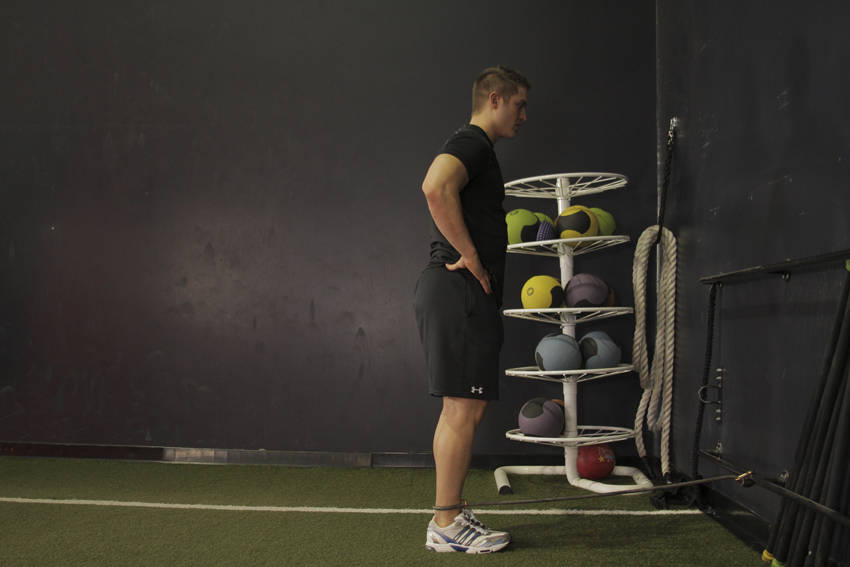 Hip Extension with Bands image