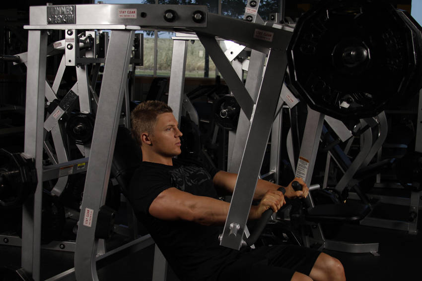Leverage Decline Chest Press image