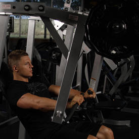 Machine decline bench press