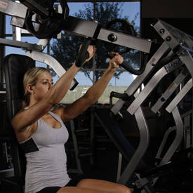 Horizontal incline bench-press machine