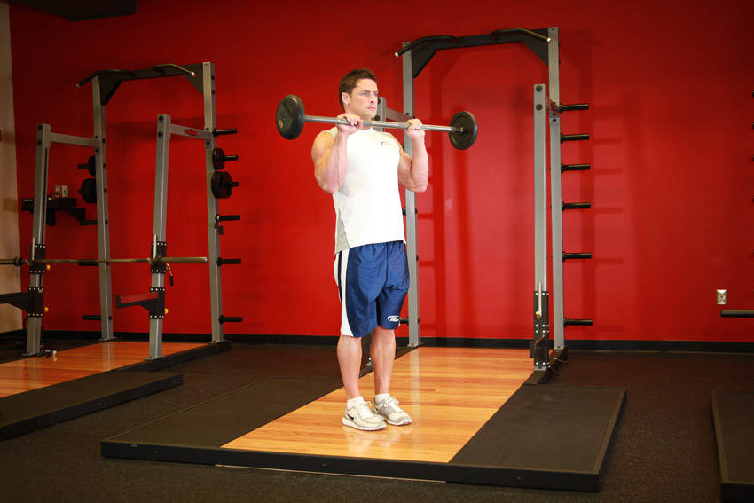 Reverse Grip Curls Holding Bar Click to enlarge