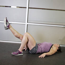 Single-leg back-elevated glute-bridge