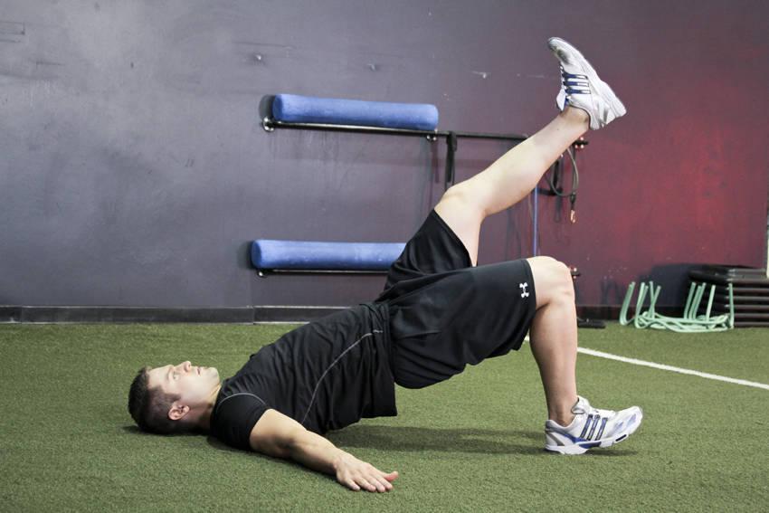 Single Leg Glute Bridge Exercise Guide and Video