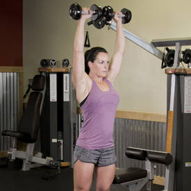 Standing Dumbbell Press