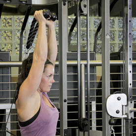 Triceps Overhead Extension with Rope