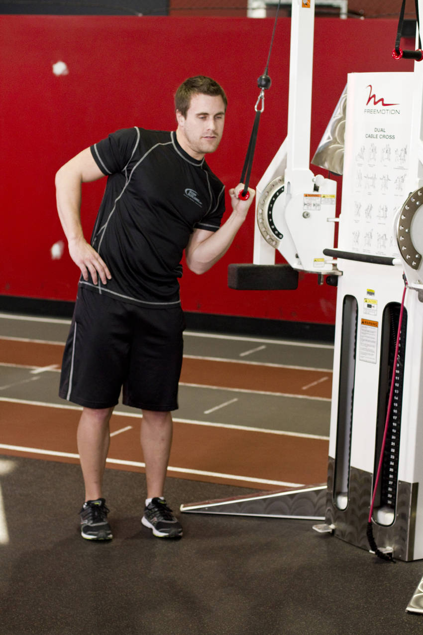 One Arm High Pulley Cable Side Bends Exercise Guide And Video