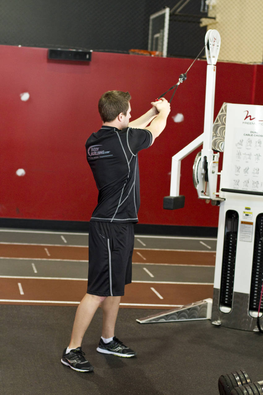 Wood Chop Exercise Standing Cable Wood Ch...