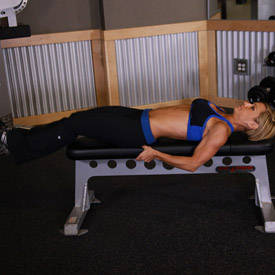 Flat Bench Leg Pull-In