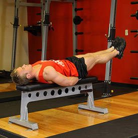 Flat Bench Leg Pull-In image