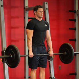 barbell shrug exercise guide and video