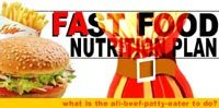 Fast Food Nutrition Plan!