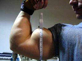 Jonathan's Arm Measurement Photo