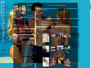 MySpace Layout: Seashore Blue