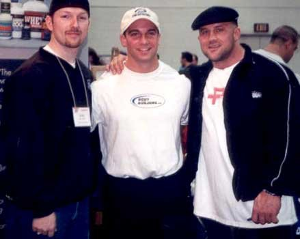 Me with Justin Savich (one of our past amateur bodybuilders of the week) and ...